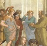 Particolare della Scuola di Atene di Raffaello