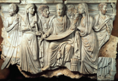 Relief from Sarcophagus of a Philosopher