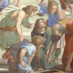 Particolare della Scuola d'Atene di Raffaello